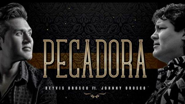 Se estreno la nueva versión de «Pecadora» a dúo Deyvis Orosco con su fallecido padre.