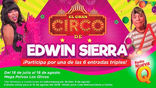 ¡Conoce a los ganadores de las entradas dobles para El Circo de Edwin Sierra!