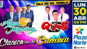 Agua Marina y Grupo5 brindarán un concierto en Lima