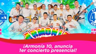 Armonía 10 anuncia primer concierto presencial para este domingo 10 de enero.