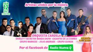 'Artistas Unidos por la Música': Orquesta Candela, El Grupo Guinda, Shirley y Secretos Banda Show y más en concierto
