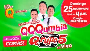 ¡Atención, Comas! No te pierdas QQQumbia con el Grupo5 en vivo