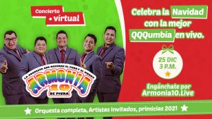 Armonía 10 celebrará la Navidad con su primer concierto virtual