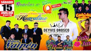 Celebra las Fiestas Patrias con Deyvis Orosco y Hermanos Yaipén