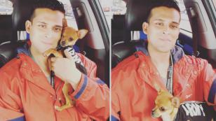 Christian Domínguez compartió tierno video junto a su perrito Hércules