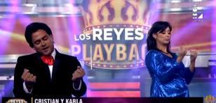 Christian Domínguez y Karla Tarazona hicieron playback juntos