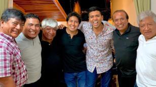 Christian Yaipén se reunió con Agua Marina (FOTO)