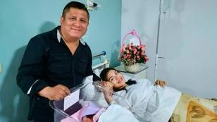 Clavito anunció el nacimiento de su hija Caeli (FOTOS)