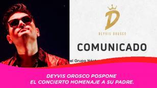 Deyvis Orosco posterga homenaje virtual a su padre y el Grupo Néctar