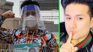 Deyvis Orosco reparte protectores faciales para frenar el COVID 19
