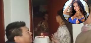 Dilbert Aguilar sorprendió a Claudia Portocarrero cantándole 'Las mañanitas' por su cumpleaños
