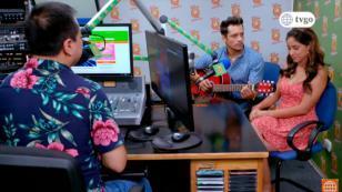 Edgar Gavilán y Belén de 'Ojitos Hechiceros 2' visitaron la cabina de Radio Nueva Q