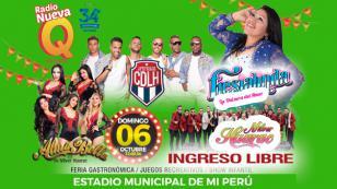 El distrito de Mi Perú celebrá su aniversario con la QQQumbia de Alma Bella de Nilver Huarac