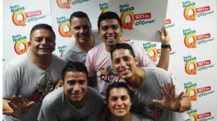 ¡El Grupo5 armó la fiesta en la cabina de radio Nueva Q! (VIDEO)