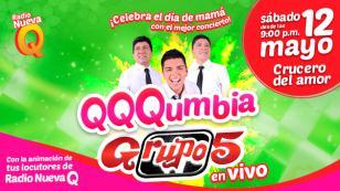 ¡El Grupo5 le canta a mamá en concierto, gracias a Radio Nueva Q!