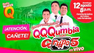 ¡Ellos ganaron entradas para el concierto QQQumbia con el Grupo5 EN VIVO en Cañete!