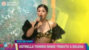 Estrella Torres imitó a Selena Quintanilla e interpretó 'Bidi Bidi Bom Bom'