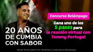 Gana un encuentro virtual con Tommy Portugal