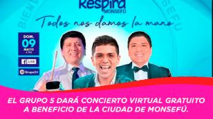 Grupo 5 realizará concierto virtual para crear planta de oxígeno en Monsefú