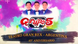 Grupo5 publicó video de su concierto en el Teatro Gran Rex de Argentina