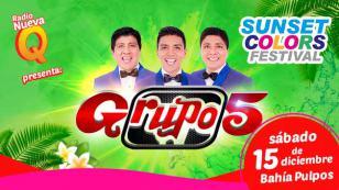 Grupo5 se presentará en el concierto Sunset Colors Festival, en Lima