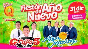 ¡Grupo5 y Agua Marina se presentarán en Plaza Norte por Año Nuevo, gracias a Radio Nueva Q!