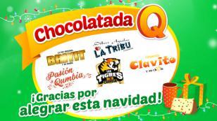¡Mira lo que fue la Chocolatada Q con tus artistas de cumbia, gracias a radio Nueva Q!