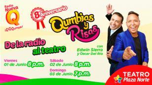 ¡No te pierdas 'Qumbias y Risas' en el teatro!