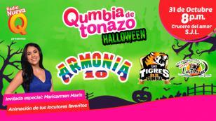 ¡No te puedes perder El Qumbiatonazo por Halloween de Radio Nueva Q!