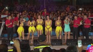 ¡Puro Sentimiento cantó en vivo 'Qué bonito' en 'Domingos de Fiesta'! (VIDEO)