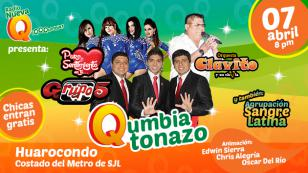 Puro Sentimiento, Clavito y Grupo5 se presentarán en el 'Qumbiatonazo'