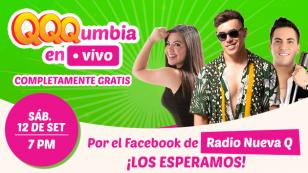 'QQQumbia en Vivo' completamente gratis con Estrella Torres, Tommy Portugal y Cedric Vidal