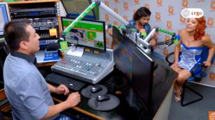 ¿Qué hicieron Jano y Sabrina de 'Ojitos Hechiceros 2' en la cabina de Radio Nueva Q? (VIDEO)