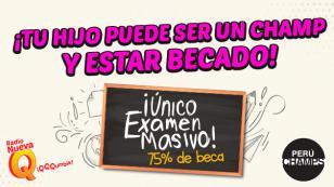 ¿Quieres que tu hijo obtenga una beca de estudios, gracias a Perú Champs?