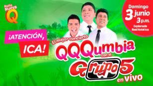 ¡Radio Nueva Q llega a Ica con QQQumbia con el Grupo5 EN VIVO!