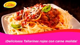 ¡Toma nota y prepara este riquísimos Tallarines rojos con carne molida gracias a Doña Gusta!