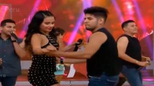 Thamara Gómez y Dimas Ysla se besaron en programa de televisión (VIDEO)