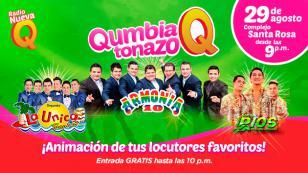 Todo va quedando listo para el 'Qumbiatonazo Q' con Armonía 10, La Única Tropical y Son de Ríos