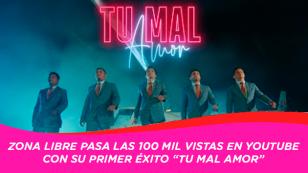 """Tu mal Amor"" de Zona Libre llega a las 100 mil visualizaciones"